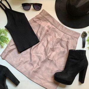 H&M pedal pink mini skirt.